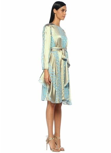 Diane Von Furstenberg Elbise Mavi